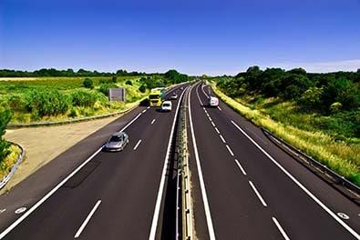 Vue d'une autoroute