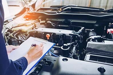 Controle technique du moteur de la voiture